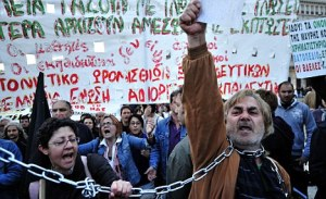 GREECE-ECONOMY-FINANCE-PROTEST