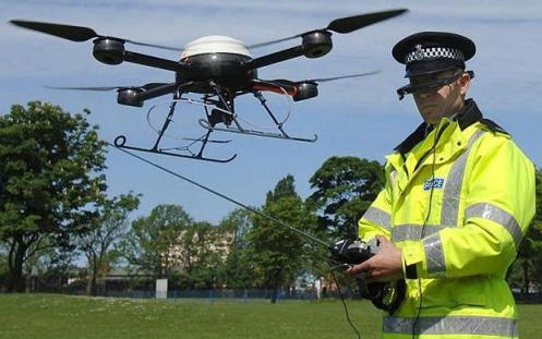 British Police Officer displays same technology used to spy on American citizens by our government