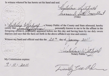 Hawaii official now swears no obama birth certificate phillhillusa notary seal on timothy adams affidavit yadclub